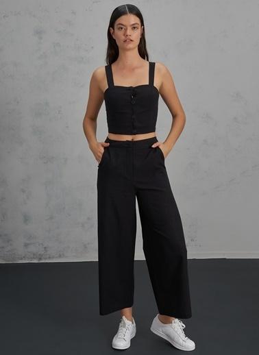Pi π Bol Paça Pantolon Siyah